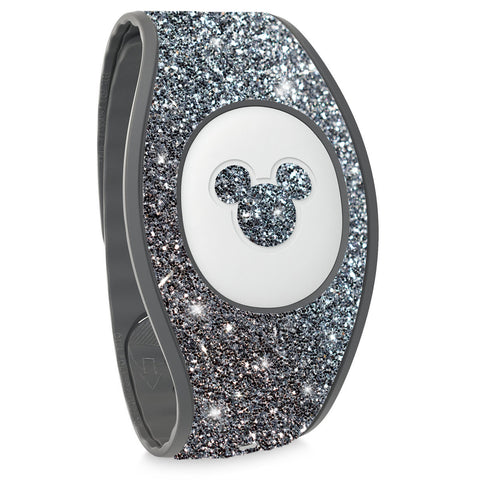 graphite silver glitter sticker for Magic Band 2 Disneyland trip