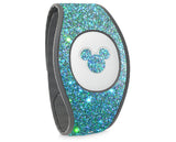 Blue Lagoon holographic glitter wraps for Magic Band, skins cover holo glitter straps, Magic band decals wrap, wraps for magic band 2