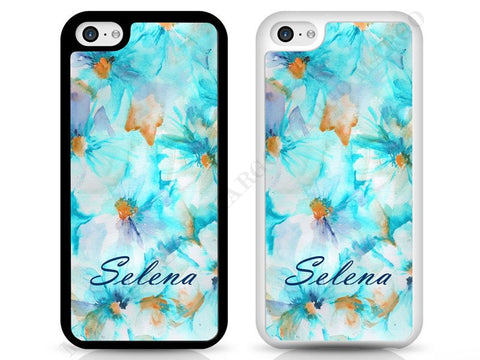 Flower Waterpainting Personalised Phone Cases for iPhone and Samsung