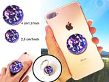 Holographic Purple Crystal iridescent sparkle decal/sticker for selfie holder, for ring holder, stand for tablet, phone grip holder,