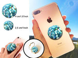 Holographic mint Crystal, Diamond, iridescent, Turquoise, Alabaster decal/sticker for popsockets, for selfie holder, ring holder
