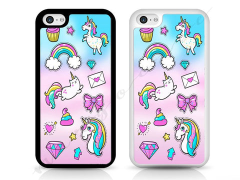 Unicorn, rainbow, diamond Case, HARD PLASTIC case for iPhone and Samsung, iPod