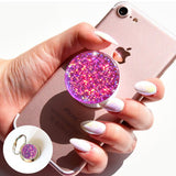 Holographic pink Glitter, Diamond, iridescent, rose decal/sticker for popsockets, for selfie holder, ring holder