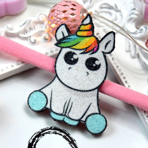 Glitter Unicorn Headband, unicorn Headband, leather headband, newborn headband, baby shower gift, baby girl, baby headband, nylon