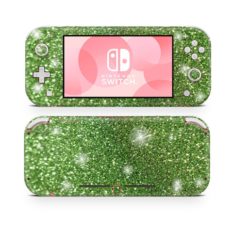 Apple green glitter skin for nintendo switch lite