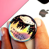 Sticker for popsocket, x-files decal, popsockets iwant to believe