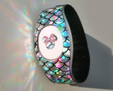 mermaid scale stickers for magic band 2, disneyland trip, stickers decal