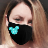 face mask blue glitter mickey