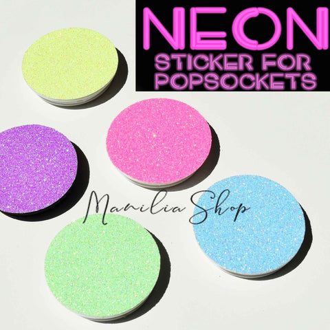 neon glitter sticker for popsoskets