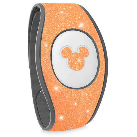 Orange Glitter Magic Band 2 decal wraps
