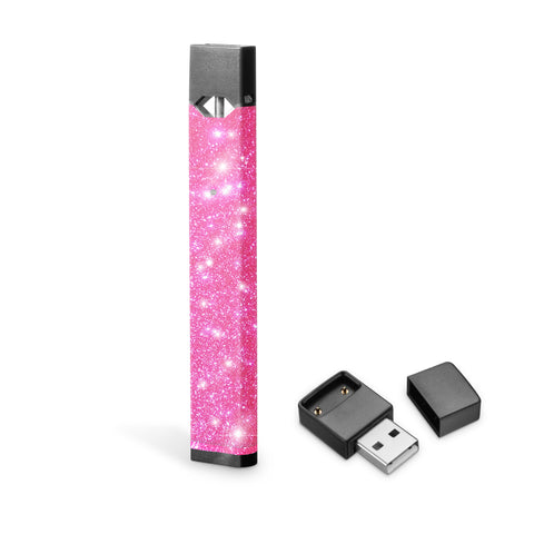 Neon Pink Glitter decal skin for Juul vape, stickers for Juul