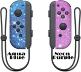 Glitter Skin for Nintendo switch Joy-Con, glitter skin wrap decal, animal crossing, Aqua blue joy con