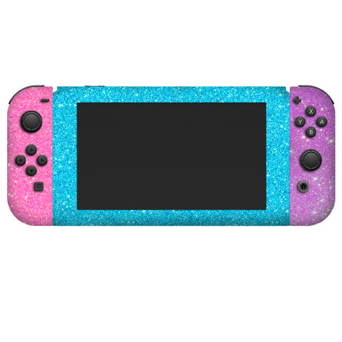 Glitter skin for nintendo switch console