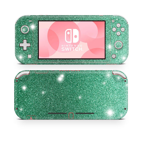 Watergreen glitter skin wrap sticker for Nintendo Switch Lite