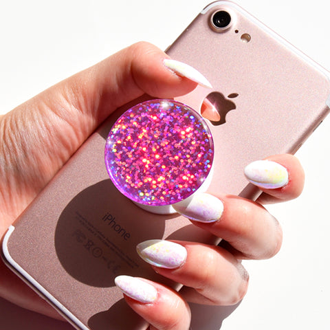 popsocket, popsockets, bling popsocket, popsocket decal, popsocket sticker, popsocket diamond, gemstone popsockets, popsockets crystal, swarovski popsocket, decal popsockets, Pink Glitter Popsocket,