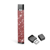 Real glitter skin for juul, juul rose gold sticker wraps