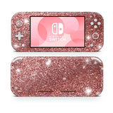 Rose Gold glitter skin for Nintendo Switch Lite