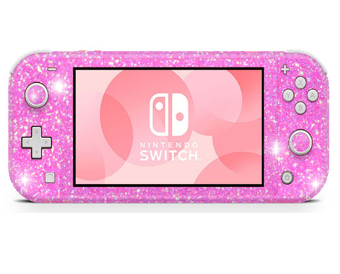 Nintendo Switch Lite wraps , sticker, decal pink glitter