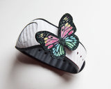 glitter rainbow butterfly straps pin