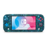 holo blue glitter skin wrap sticker for Nintendo Switch Lite