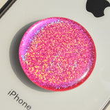 Pink holographic sticker for popsockets, phone holder, pop out grip