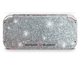 Silver glitter skin for nintendo switch lite