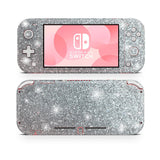 Silver glitter skin for Nintendo Switch Lite, decal, stickers for Nintengo, players game