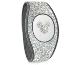 Silver glitter decal for Magic Band 2
