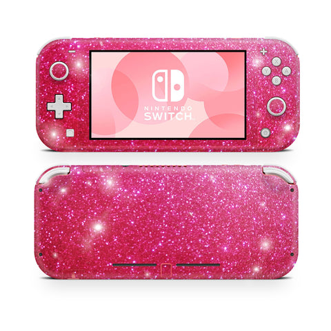 raspberry glitter skin for Nintendo Switch Lite