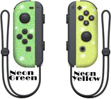 Glitter Skin for Nintendo switch Joy-Con, glitter skin wrap decal, animal crossing, Neon glitter joy con
