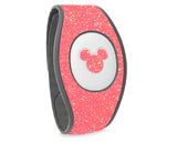 Coral rose glitter sticker for Magic Band 2