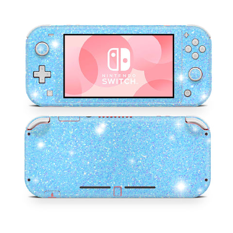 Blue Glitter sticker wrap for Nintendo Switch Lite
