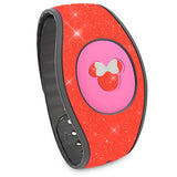 Neon Grapefruit glitter magic band 2 decal, sticker wraps bracelet straps