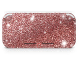Rose Gold glitter back Sticker for Nintendo Switch Lite