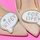 wedding shoe, wifey for lifey