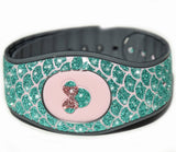 Watergreen mermaid scales for Magic Band 2, real glitter sticker for disneyland trip