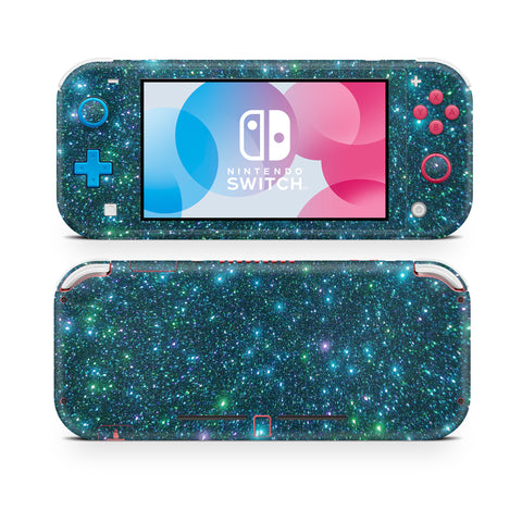 Nintendo Switch Lite wraps , sticker, decal night blue holo glitter