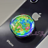 planet popsockets sticker green blue aurora