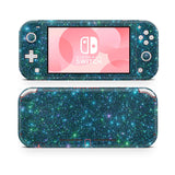 blue glitter skin wrap sticker for Nintendo Switch Lite