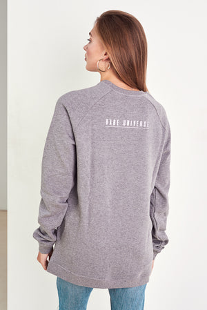 BABE ON A MISSION ORGANIC COTTON ECO-FRIENLDY JUMPER IN GREY