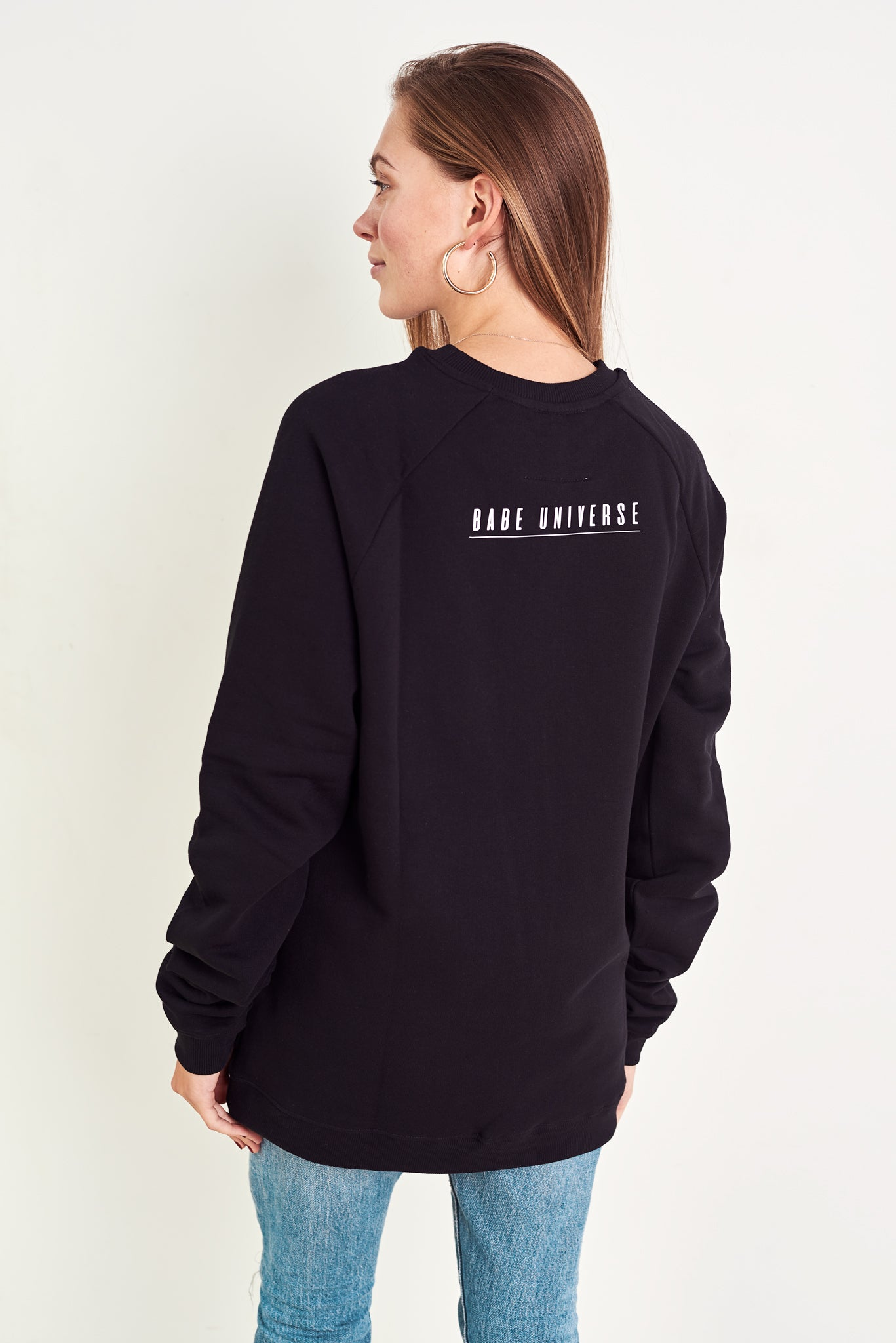 BABE ON A MISSION ORGANIC COTTON ECO-FRIENDLY JUMPER IN BLACK