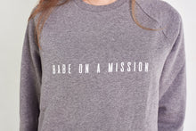 Load image into Gallery viewer, BABE ON A MISSION Jumper in Grey