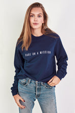 Load image into Gallery viewer, BABE ON A MISSION Jumper in Navy Blue