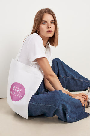 Babe Universe Sustainably Made Pink Logo Tote Bag