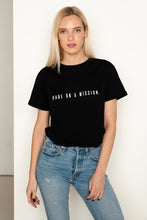 Load image into Gallery viewer, BABE ON A MISSION Black T-Shirt