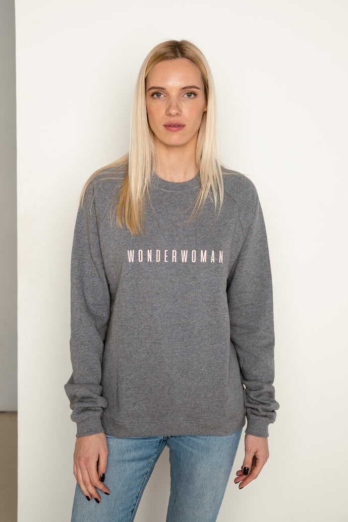 WONDERWOMAN Jumper in Grey And Pink