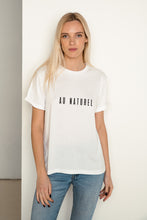 Load image into Gallery viewer, AU NATUREL White T-shirt