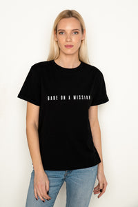 BABE ON A MISSION Black T-Shirt