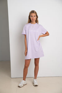 BABE ON A MISSION #ECOFRIENDLY dress in lilac