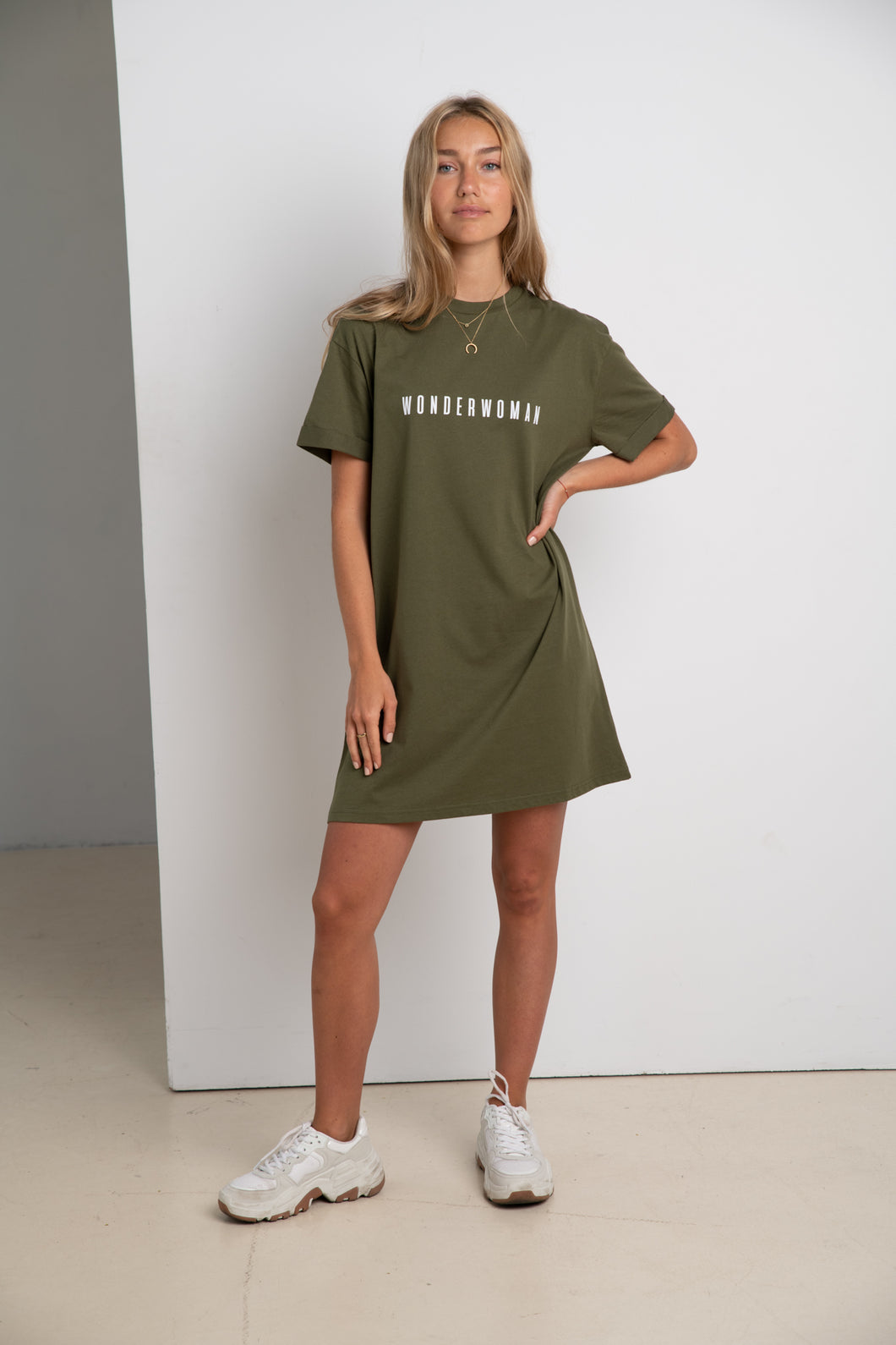 WONDERWOMAN #ECOFRIENDLY dress in khaki